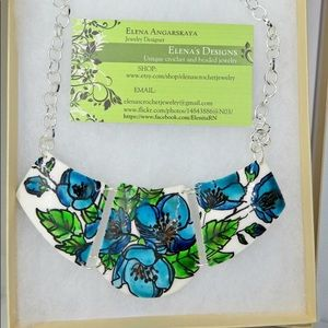Hand-painted Statement Floral Necklace